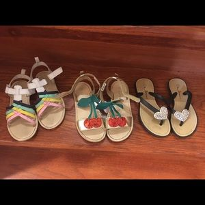 Girls 11 and 10/11 sandal lot Carters cherry 🍒